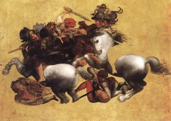 Leonardo da Vinci Battle of Anghiari Tavola Doria